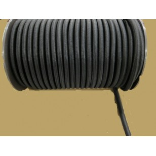 12mm Bungee/Shock Cord Black 50m Roll