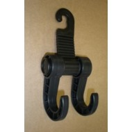 Double Hook Bag Holder Black