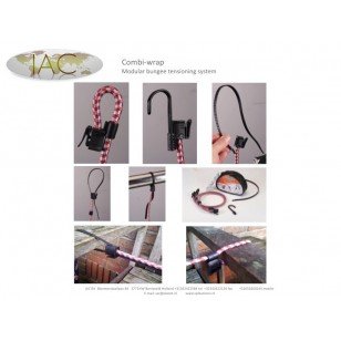 Elastic Combi Wrap 2 off 1m Long Bungee with hook one end